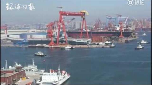 Video Trung Quốc vừa hạ thủy tàu sân bay nội địa đầu tiên