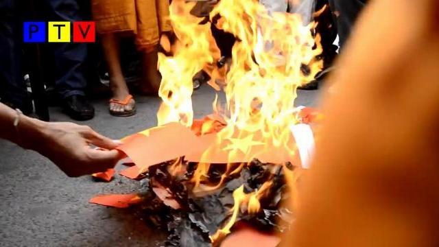 Campuchia đốt cờ Việt Nam ប្រជាពលរដ្ឋ... - ព័ត៌មានខ្មែរ ទាន់ហេតុការណ៍