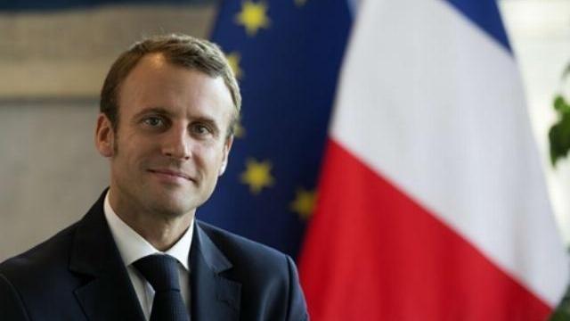 Ông Macron phát biểu tại buổi lễ mừng chiến thắng