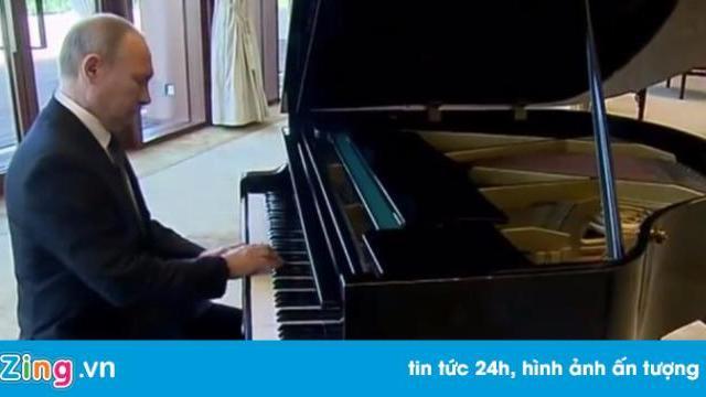 Putin thể hiện tài piano ở nhà riêng ông Tập Cận Bình