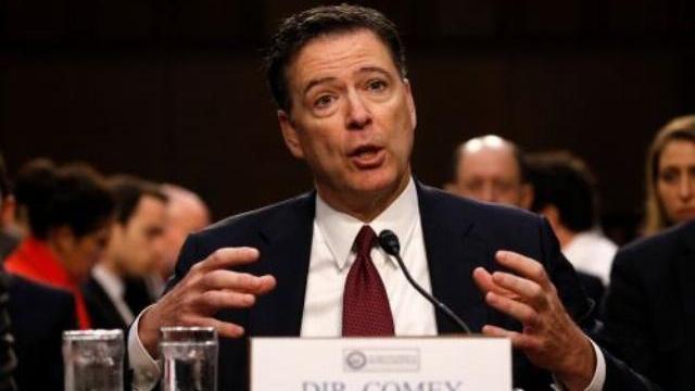 Cựu giám đốc FBI James Comey trong phiên điều trần tại quốc hội ngày 8/6.