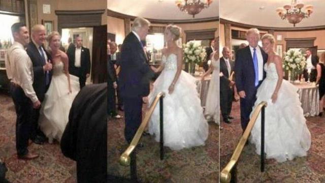 Tổng thống Donald Trump bất ngờ xuất hiện tại đám cưới người lạ