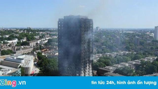 Cao ốc 27 tầng ở London đen thui sau một ngày cháy dữ dội