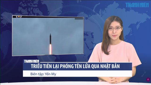 Tên lửa tầm trung Hwasong-12 trong đợt phóng thử ở Triều Tiên