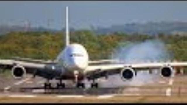 Kỳ diệu thoát tai nạn máy bay: Airbus A380 lớn nhất thế giới bị gió thổi bạt khi hạ cánh