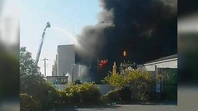 Nổ nhà máy hoá chất ở Nhật Bản làm 10 người bị thương