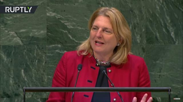 Bài phát biểu bằng tiếng Ả Rập đầy bất ngờ của bà Karin Kneissl