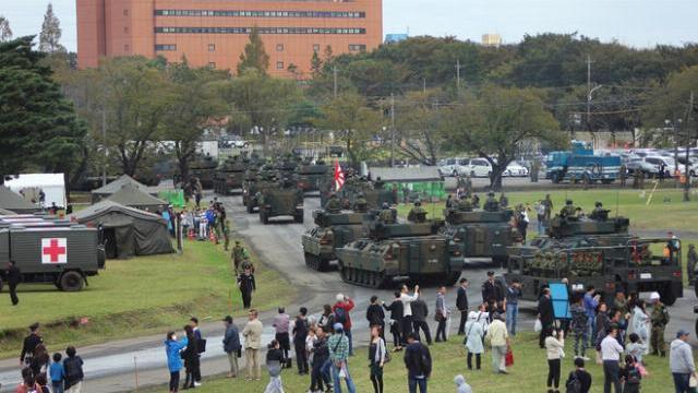 Lực lượng phòng vệ Nhật Bản tại cuộc duyệt binh