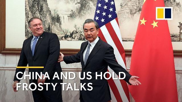 Ngoại trưởng Mỹ Mike Pompeo và Ngoại trưởng Trung Quốc Vương Nghị trong cuộc gặp tại Bắc Kinh hồi đầu tháng