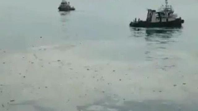 Hiện trường máy bay Lion Air chìm dưới biển