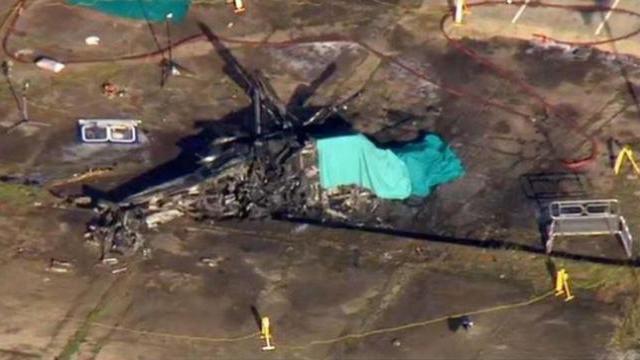 Khoảnh khắc trực thăng chở Chủ tịch đội Leicester quay lảo đảo trước khi gặp nạn
