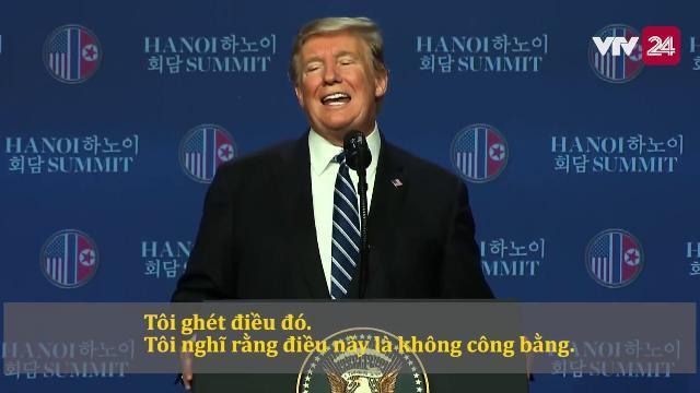 [VIỆT SUB] Tổng thống Donald Trump giải thích vì sao không đạt thỏa thuận với Chủ tịch Kim Jong-un
