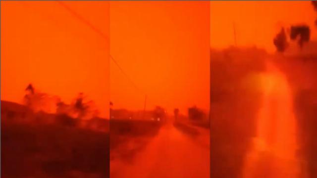 Bầu trời Indonesia đỏ như máu giữa ban ngày