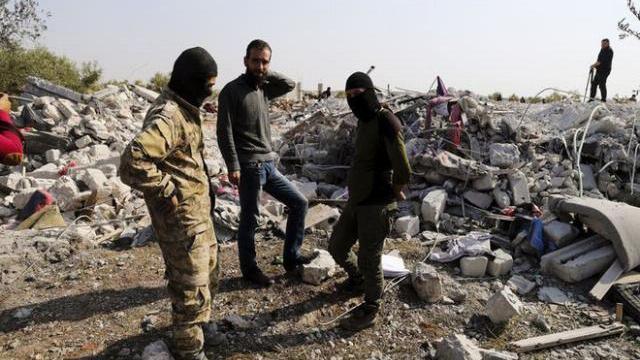 Hiện trường được cho là nơi thủ lĩnh IS Abu Bakr al-Baghdadi bị tiêu diệt