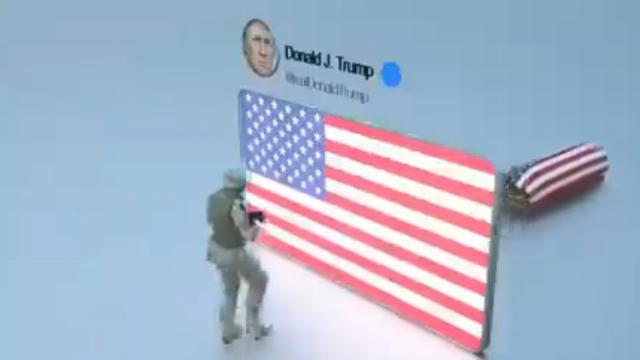 Video đả kích ông Trump của các tài khoản mạng xã hội ủng hộ Iran.