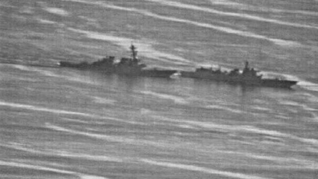 Tàu Trung Quốc chủ động va chạm với tàu chiến của Mỹ