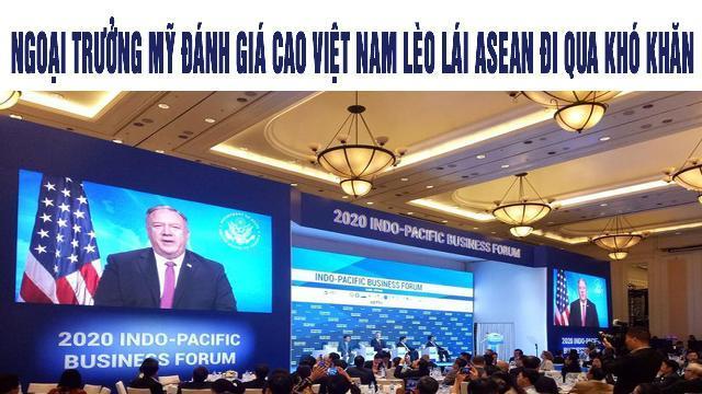 Ngoại trưởng Mỹ đánh giá cao Việt Nam lèo lái ASEAN đi qua khó khăn