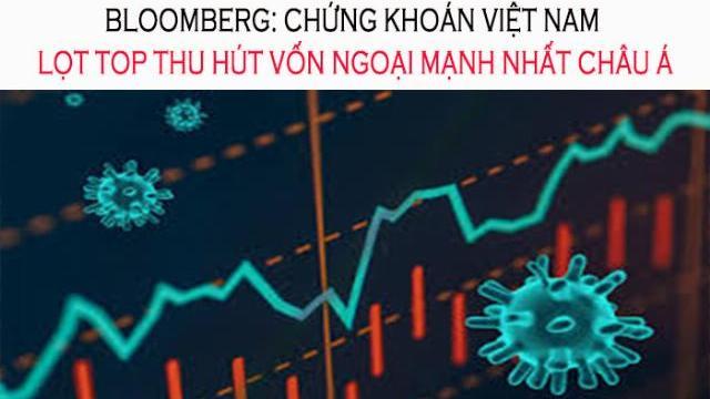 Bloomberg: Chứng khoán Việt Nam lọt top thu hút vốn ngoại mạnh nhất châu Á