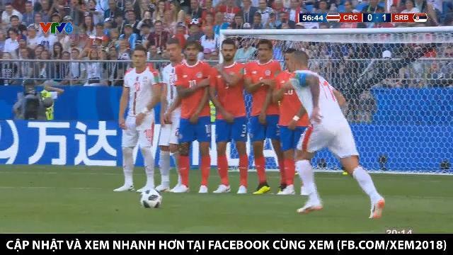 Đội trưởng Kolarov đá phạt tuyệt phẩm, Serbia mở tỉ số