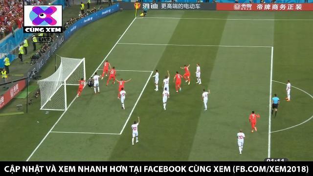 Hary Kane mở tỉ số cho tuyển Anh sau pha đệm bóng cận thành đơn giản