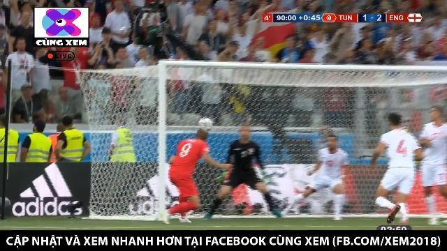 Harry Kane tỏa sáng với cú đánh đầu cận thành tung lưới Tunisia