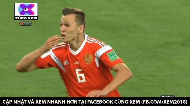 Cheryshev dứt điểm tung lưới Ai Cập nâng tỷ số lên 2 - 0