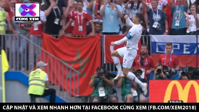 Ronaldo mở tỉ số ngay phút thứ 5 bằng pha đánh đầu đẳng cấp