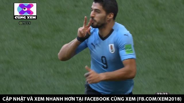 Sai lầm của thủ môn Ả Rập giúp Suarez mở tỉ số