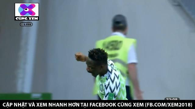 Phản công nhanh, Nigeria có bàn thắng đầu tiên tại World Cup