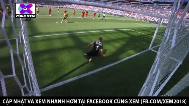 Eden Hazard không gặp khó khăn để đánh bại thủ thành Ben Mustapha