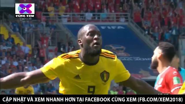 Lukaku dứt điểm điệu nghệ nâng tỉ số lên 2 - 0 cho tuyển Bỉ