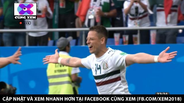 Hàn Quốc dính đòn hồi mã thương, Chicharito nâng tỉ số lên 2- 0 cho Mexico