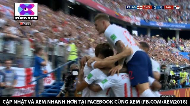 Harry Kane ghi bàn trên chấm 11m, nâng tỉ số lên 2 - 0 cho Anh