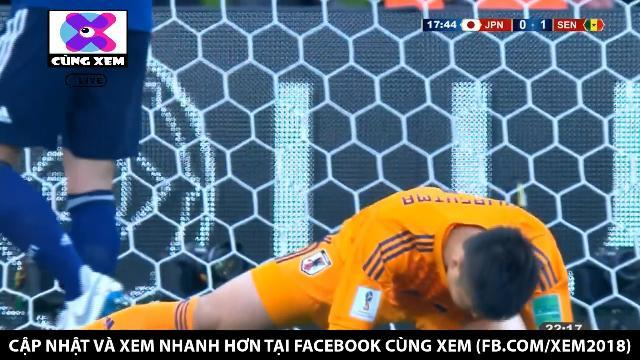 Sai lầm của thủ môn Nhật Bản giúp Senegal mở tỉ số