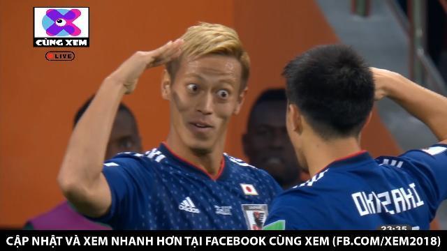 Inui chuyền từ cánh trái, Honda gỡ hòa lần thứ 2 cho đội bóng châu Á.