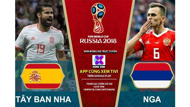 Tổng hợp pha ghi bàn của trận Nga - Tây Ban Nha