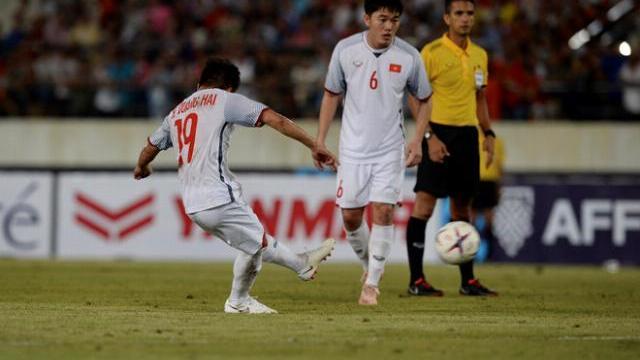 Quang Hải ghi bàn thắng thứ 3 cho đội tuyển Việt Nam