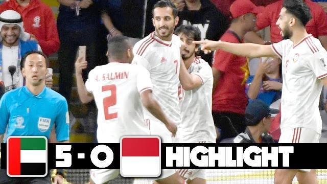 UAE vs INDONESIA Highlight 2019 - Đối Thủ Của VIỆT NAM bị vùi dập - Vòng Loại World Cup 2022