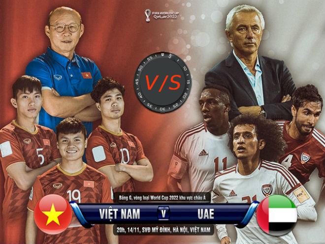 Trực tiếp trận Việt Nam - UAE lúc 20h