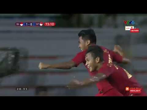 HIGHLIGHTS | U22 Indonesia VS U22 Singapore 2-0 | Seagame 30th
