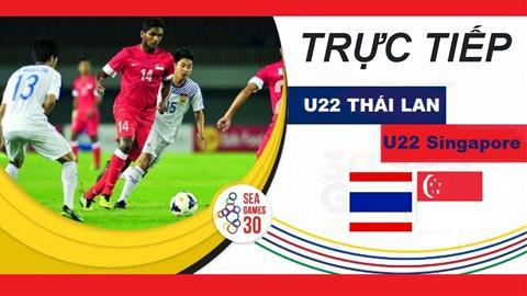 Trực tiếp bóng đá Thái Lan vs Singapore