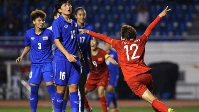 Hải Yến ghi bàn thắng vàng giúp tuyển nữ Việt Nam hạ Thái Lan