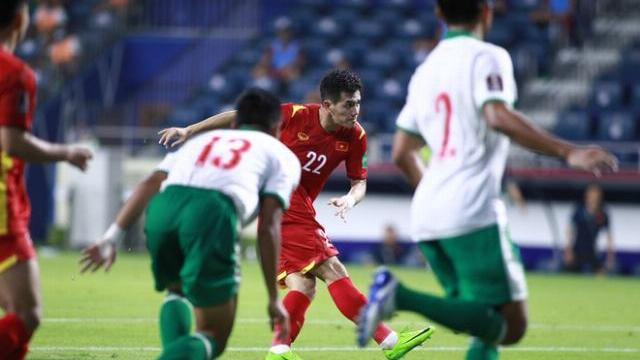 Pha ghi bàn của Tiến Linh trong trận đấu với Indonesia