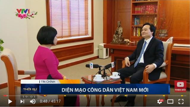 Thời sự VTV1 19h ngày 31/1/2017 - Bộ trưởng Giáo dục chia sẻ diện mạo công dân mới