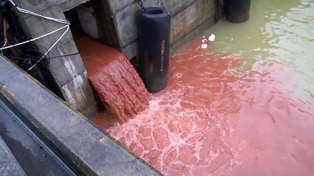 Nước màu đỏ xuất hiện tại khu vực Cảng Sơn Dương, Vũng Áng, Formosa Hà Tĩnh