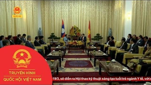 Chủ tịch Quốc hội Lào thăm và làm việc tại Tp.HCM