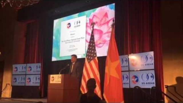 Thủ tướng Nguyễn Xuân Phúc phát biểu tại buổi ăn tối của Phòng Thương mại Mỹ tổ chức