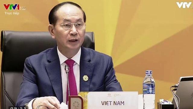 Chủ tịch nước Trần Đại Quang phát biểu khai mạc Hội nghị các nhà lãnh đạo kinh tế APEC