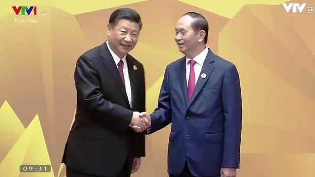 Chủ tịch nước Trần Đại Quang đón lãnh đạo các nền kinh tế APEC tại Đà Nẵng