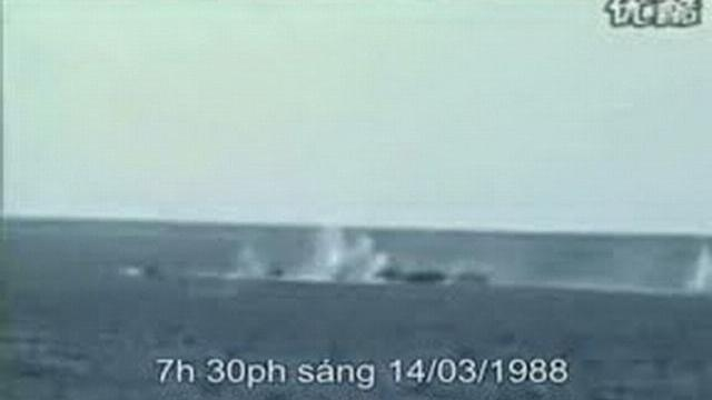 Hình ảnh vụ thảm sát Gạc Ma do Trung Quốc ghi hình lại